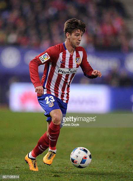 Luciano Vietto of Club Atletico de Madrid in action during the Copa del Rey Quarter Final 2nd Leg match between Club Atletico de Madrid and Celta...