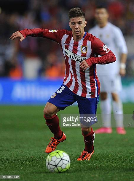 Luciano Vietto of Club Atletico de Madrid in action during the La Liga match between Club Atletico de Madrid and Real Madrid at Vicente Calderon...