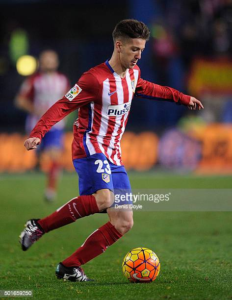 Luciano Vietto of Club Atletico de Madrid in action during the La Liga match between Club Atletico de Madrid and Athletic Club at Vicente Calderon...