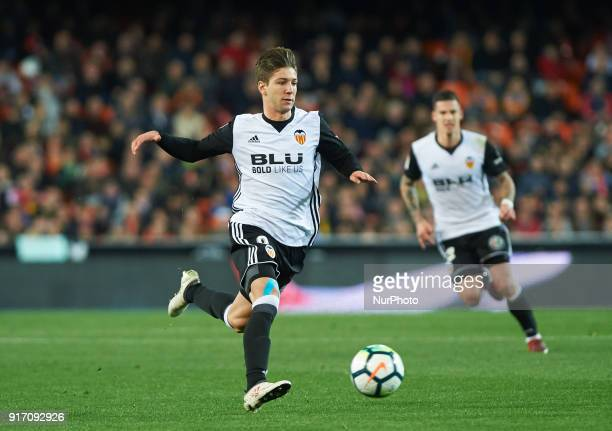 Luciano Vietto of Valencia CF during the La Liga match between Valencia CF and Levante at Mestalla Estadium on February 11 2018 in Vilareal Spain