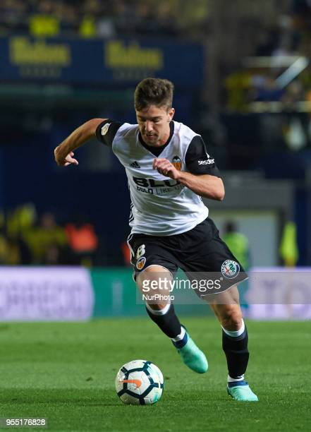 Luciano Vietto of Valencia CF during the La Liga match between Villarreal CF and Valencia CF at La Ceramica Stadium on may 2018