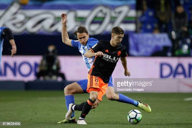 Luciano Vietto of Valencia CF during the La Liga Santander match between Malaga v Valencia at the Estadio La Rosaleda on February 17 2018 in Malaga...