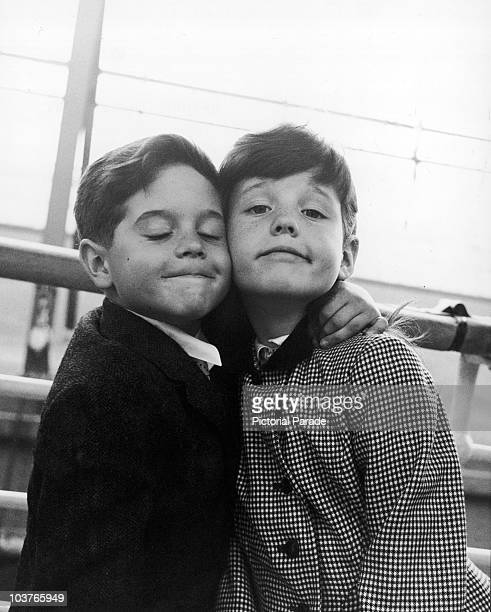 Lucie and Desi Jr the children of Lucille Ball and Desi Arnaz on board the liner 'SS Liberte' during a voyage to Europe circa 1959