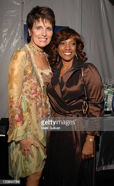 Lucie Arnaz and BernNadette Stanis during Backstage Creations at the 5th Annual TV Land Awards at Barker Hangar in Santa Monica California United...