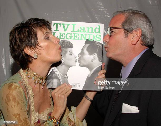 Lucie Arnaz and Desi Arnaz Jr during Backstage Creations at the 5th Annual TV Land Awards at Barker Hangar in Santa Monica California United States
