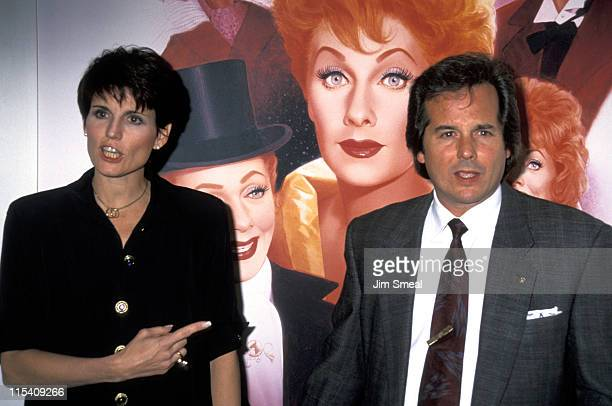 Lucie Arnaz and Desi Arnaz Jr during Lucy A Tribute to Lucille Ball at Universal Studios in Universal City California United States
