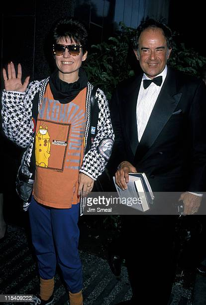 Lucie Arnaz and Laurence Luckinbill during Singers Salute the Songwriters Gala April 24 1990 at Dorothy Chandler Pavilion in Los Angeles California...