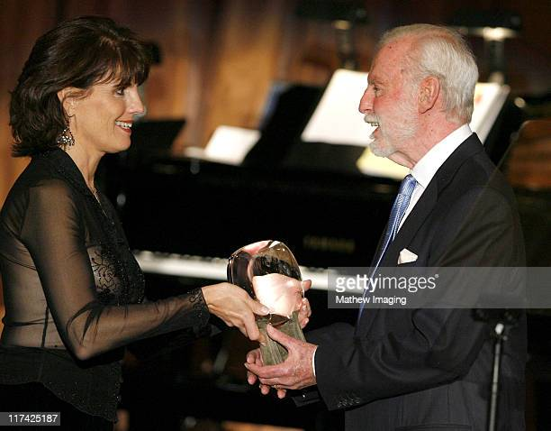 Lucie Arnaz and Leonard Goldberg during Academy of Television Arts Sciences Hall of Fame Ceremony Inside and Reception at Beverly Hills Hotel in...
