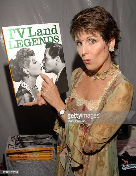 Lucie Arnaz during Backstage Creations at the 5th Annual TV Land Awards at Barker Hangar in Santa Monica California United States
