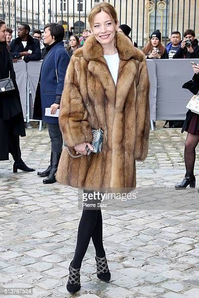 Lucie de la Falaise arrives at the Christian Dior show as part of the Paris Fashion Week Womenswear Fall/Winter 2016/2017 on March 4 2016 in Paris...