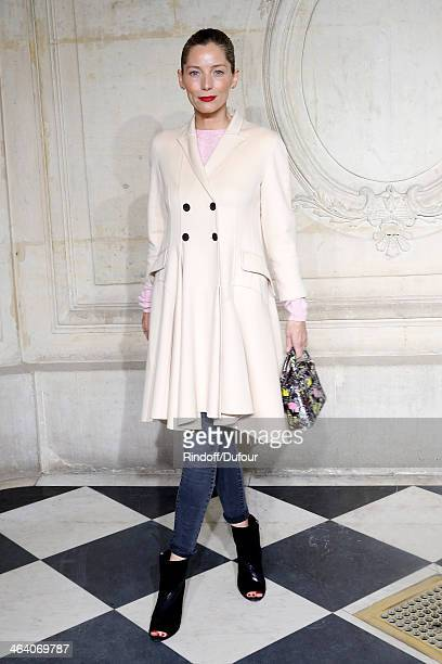 Lucie de la Falaise attends the Christian Dior show as part of Paris Fashion Week Haute Couture Spring/Summer 2014 on January 20 2014 in Paris France