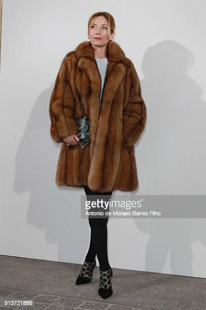 Lucie de la Falaise attends the Christian Dior show as part of the Paris Fashion Week Womenswear Fall/Winter 2016/2017 on March 4 2016 in Paris France