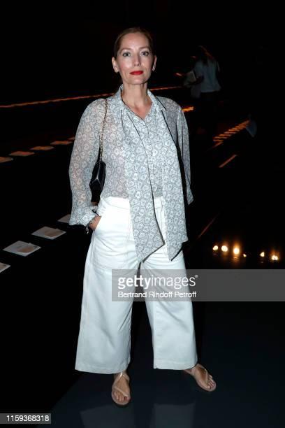 Lucie de la Falaise attends the Schiaparelli Haute Couture Fall/Winter 2019 2020 show as part of Paris Fashion Week on July 01, 2019 in Paris, France.