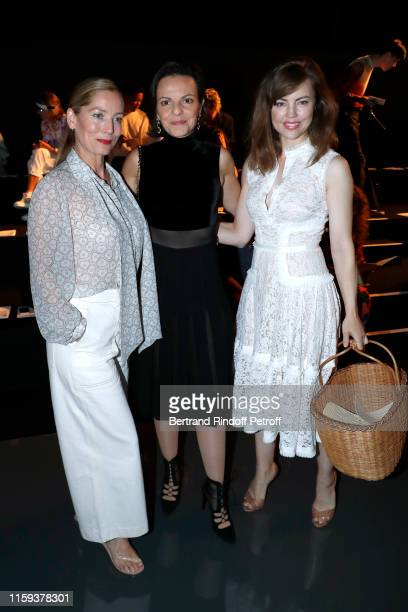 Lucie de la Falaise Delphine Bellini and Melissa George attend the Schiaparelli Haute Couture Fall/Winter 2019 2020 show as part of Paris Fashion...