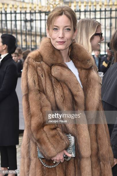 Lucie de la Falaise is seen arriving at Dior fashion show during Paris Fashion Week Womenswear Fall Winter 2016/2017 on March 4 2016 in Paris France
