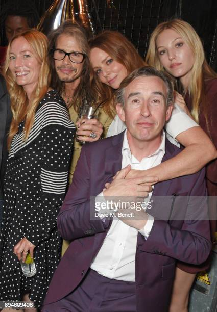 Lucie de la Falaise Steven Tyler Stella McCartney Steve Coogan and Ella Richards attend a celebration of the Stella McCartney AW17 collection and...