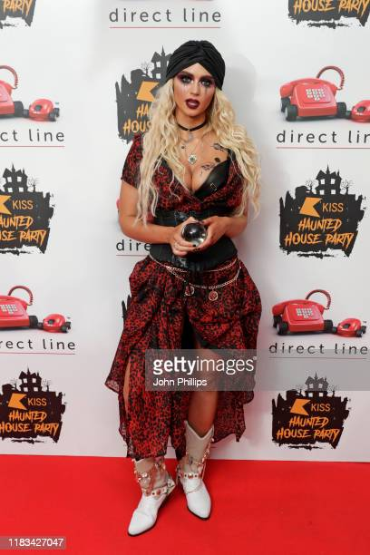Lucie Donlan attends the KISS Haunted House Party 2019 at The SSE Arena Wembley on October 25 2019 in London England