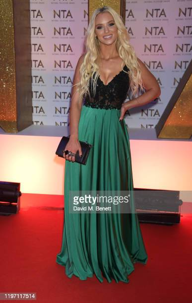 Lucie Donlan attends the National Television Awards 2020 at The O2 Arena on January 28, 2020 in London, England.
