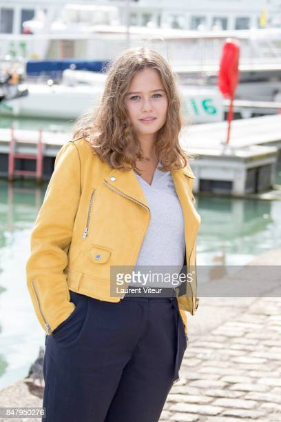 Lucie Fagedet attends Parents Modes D'Emploi Photocall during the 19th Festival of TV Fiction at La Rochelle on September 16 2017 in La Rochelle...