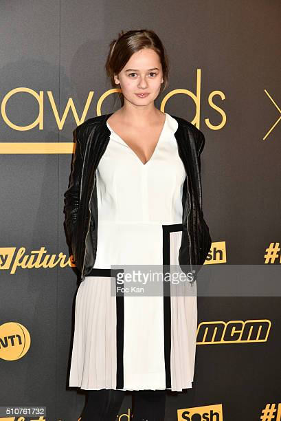 Lucie Fagedet attends The Melty Future Awards 2016 at Le Grand Rex on February 16 2016 in Paris France