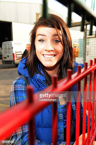 Lucie Jones arrives at Fountain Studios in Wembley on October 30 2009 in London England