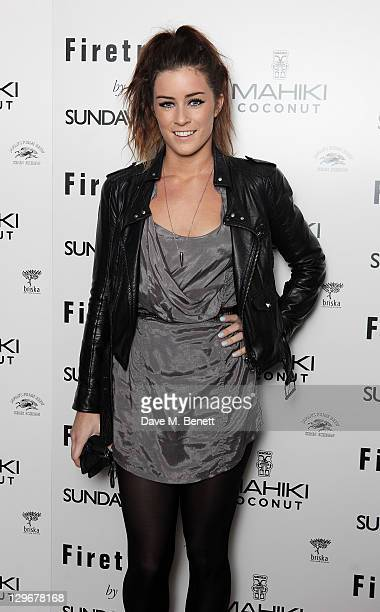 Lucie Jones attends a party to celebrate the launch of 'Firetrap by Sunday Girl' the debut collection by the singer and DJ Jade Williams aka Sunday...
