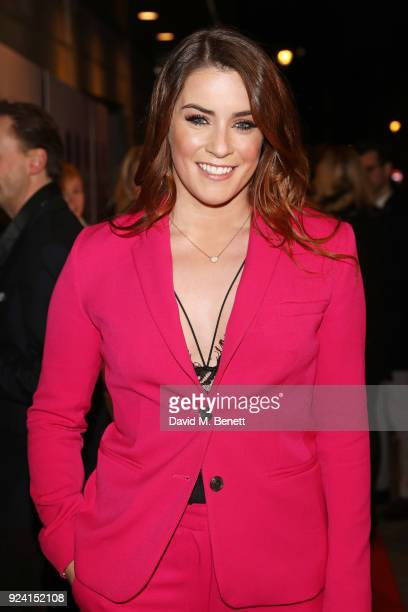 Lucie Jones attends the 18th Annual WhatsOnStage Awards at the Prince Of Wales Theatre on February 25 2018 in London England