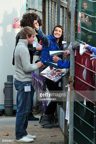 Lucie Jones Lloyd Daniels and Jamie Archer at Fountain Studios Wembley on October 30 2009 in London England