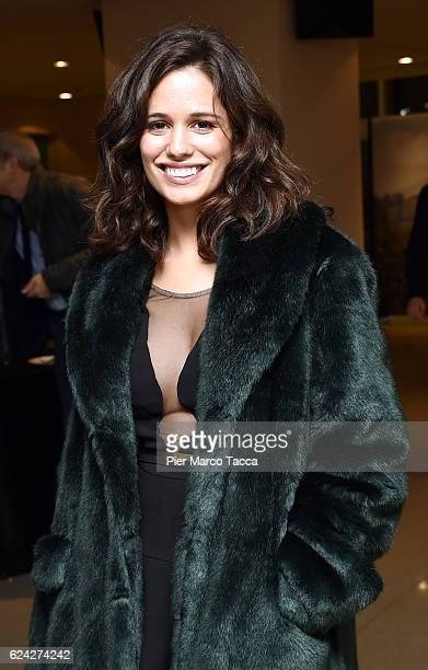 Lucie Lucas attends during the cocktail for the Opening Ceremony and 'Between Us' premiere during the 34 Torino Film Festival on November 18 2016 in...