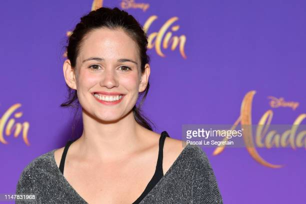 Lucie Lucas attends the Aladdin gala screening at Le Grand Rex on May 08 2019 in Paris France