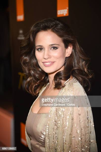 Lucie Lucas attends the Orange Cine Party during the 70th annual Cannes Film Festival at Palais des Festivals on May 20 2017 in Cannes France