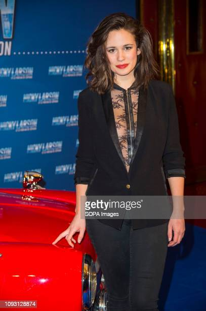 Lucie Lucas attends the premiere of Nicky Larson Et Le Parfum De Cupidon at the Grand Rex in Paris