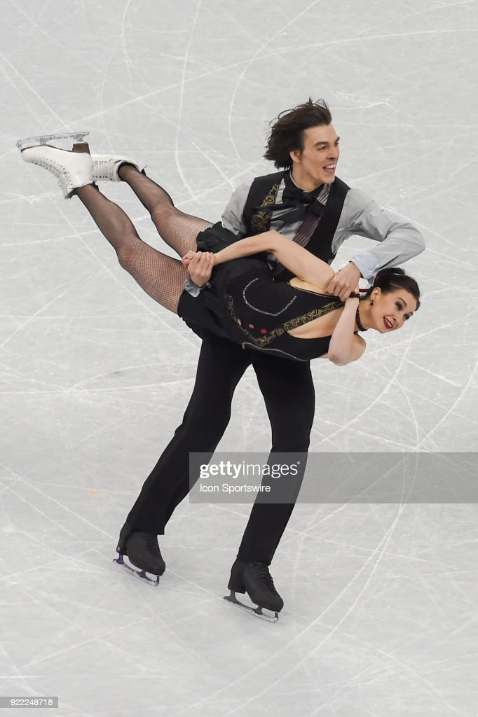 Lucie Mysliveckova and Lukas Csolley skate in the free dance of the Ice Dancing competition during the 2018 Winter Olympic Games at the Gangneung Ice Arena on February 20, 2018 in PyeongChang, South Korea.