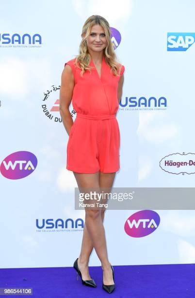 Lucie Safarova attends the WTA's 'Tennis On The Thames' evening reception at Bernie Spain Gardens South Bank on June 28, 2018 in London, England.