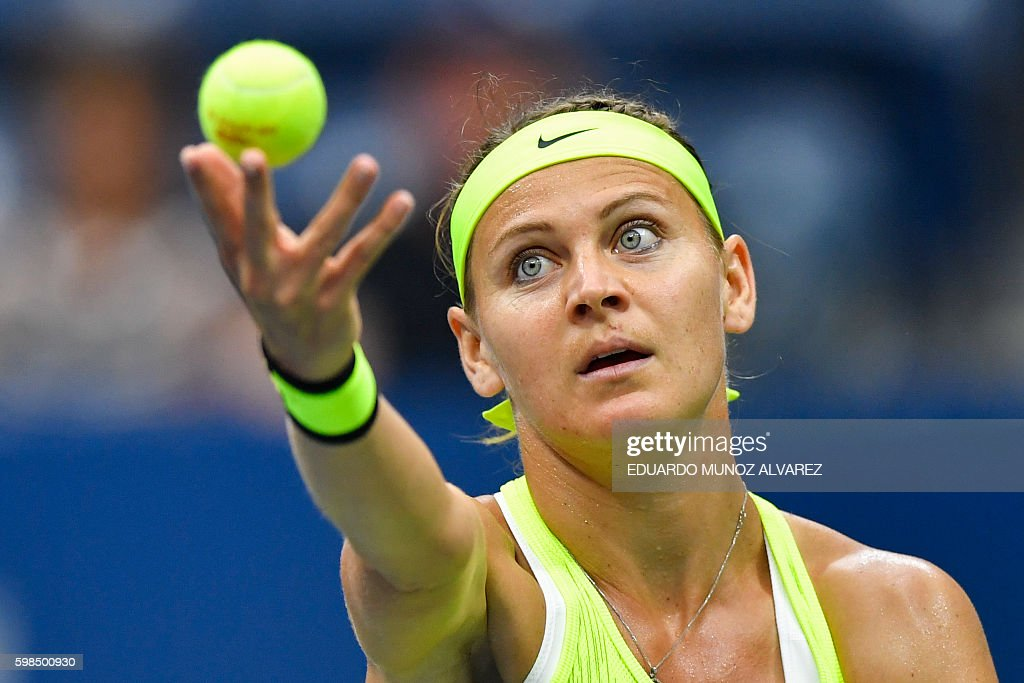 TEN-US-OPEN-HALEP-SAFAROVA : News Photo
