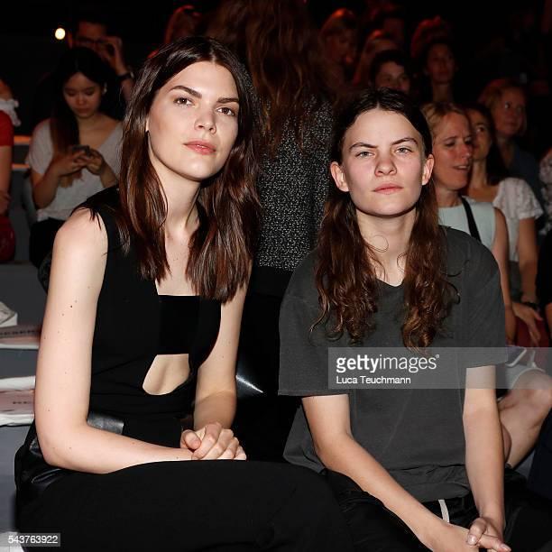 Lucie Von Alten and Eliot Paulina Sumner attend the Wataru Tominaga presented by MercedesBenz Elle show during the MercedesBenz Fashion Week Berlin...