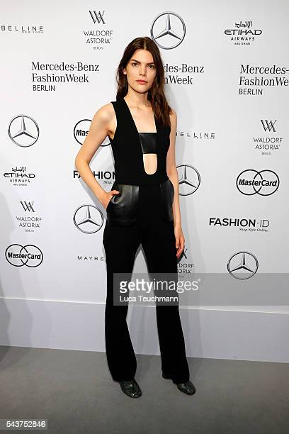 Lucie Von Alten attends the MercedesBenz Fashion Talk during the MercedesBenz Fashion Week Berlin Spring/Summer 2017 at Erika Hess Eisstadion on June...