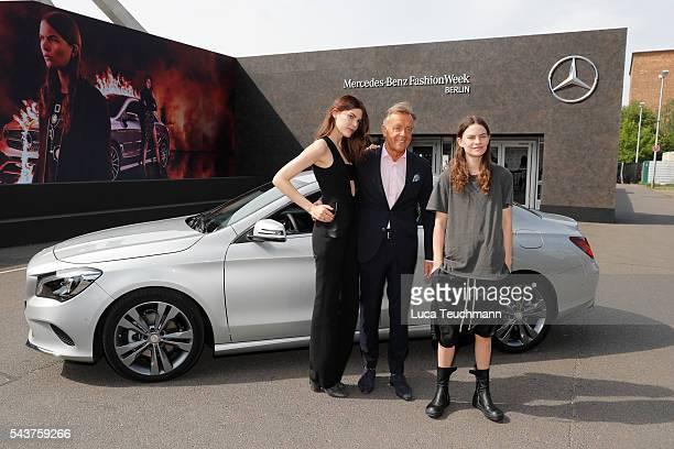 Lucie Von Alten Wolfgang Schattling and Eliot Paulina Sumner attend the MercedesBenz Fashion Talk during the MercedesBenz Fashion Week Berlin...