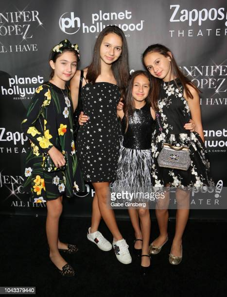 Lucie Wren LopezGoldfried Ella Alexander Rodriguez Emme Maribel Muniz and Natasha Alexander Rodriguez attend the after party for the finale of the...