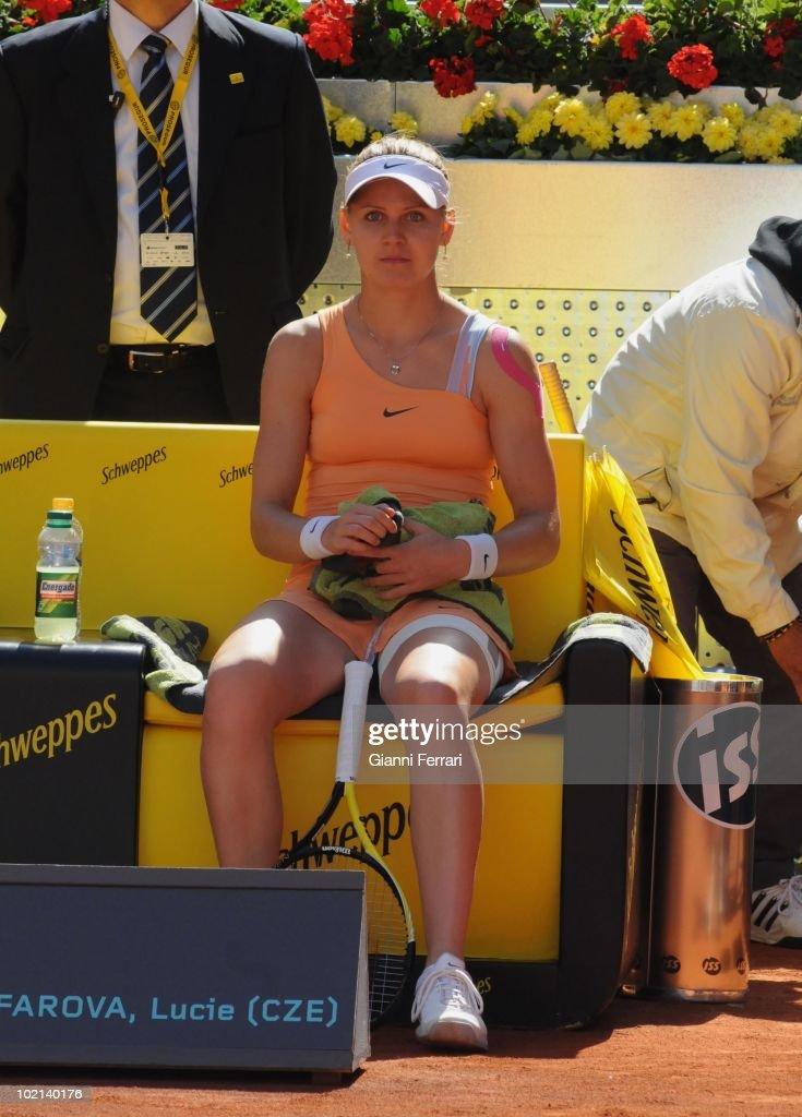 Lucie Zafarova, CZE, tennis in 'Mutua Madrilena Madrid Open' , 8th May 2010, in 'La Caja Magica'. Madrid, Spain.
