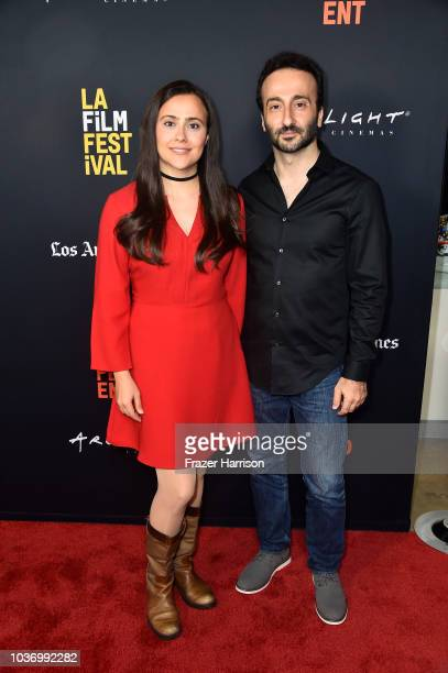 Lucien Bourjeily and Farah Shaer attend 2018 LA Film Festival Opening Night Premiere Of 'Echo In The Canyon' at John Anson Ford Amphitheatre on...