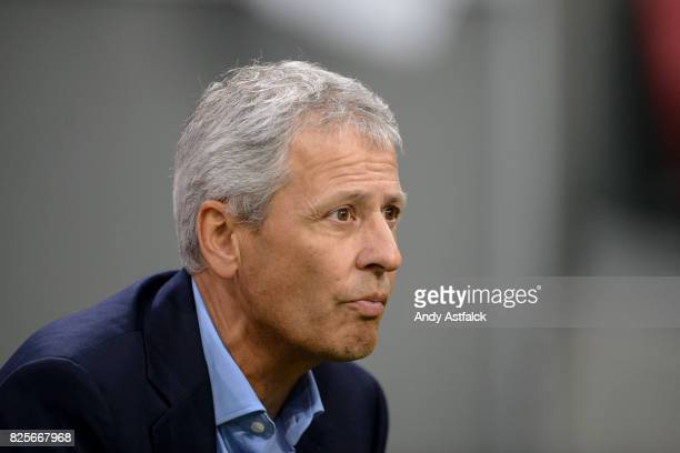 Lucien Favre Head Coach from OSC Nice during the UEFA Champions League Qualifying Third Round Second Leg match between AJAX Amsterdam and OSC Nice at...