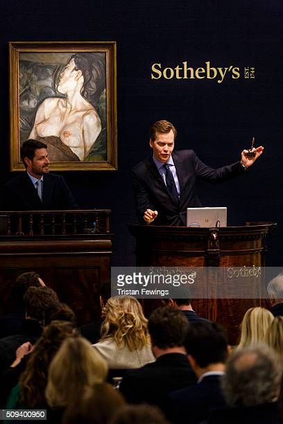 Lucien Freud's Pregnant Girl 196061 is sold at the Contemporary Art Evening Sale at Sotheby's on February 10 2016 in London England Freud's Pregnant...