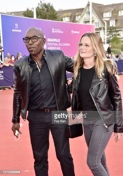 Lucien JeanBaptiste and Aurelie Nollet attend ADN Premiere at 46th Deauville American Film Festival on September 11 2020 in Deauville France