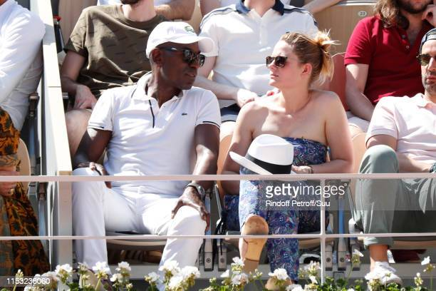 Lucien JeanBaptiste and Aurelie Nollet attend the 2019 French Tennis Open Day Eight at Roland Garros on June 02 2019 in Paris France