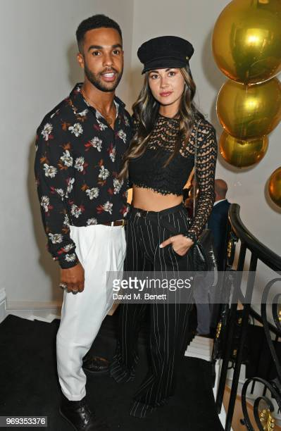 Lucien Laviscount and Ana Tanaka attend the Moet Summer House VIP launch night on June 7 2018 in London England