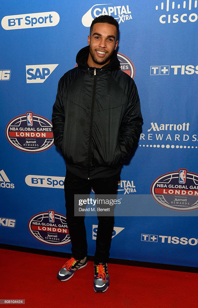 Lucien Laviscount attends the Orlando Magic v Toronto Raptors NBA Global official after party at Building Six in The O2 Arena on January 14, 2016 in London, England.