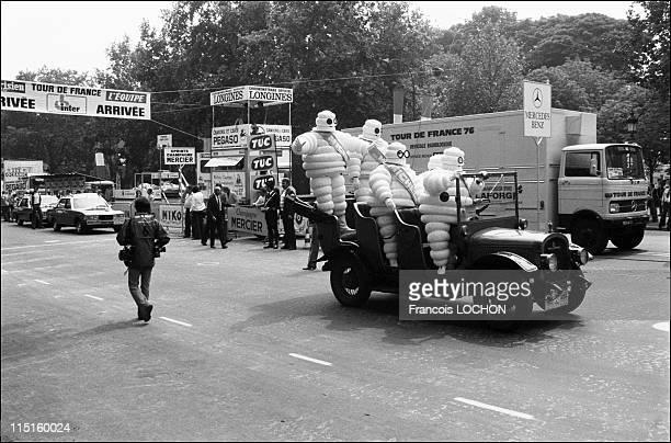 Lucien Van Impe wins the 63th Tour de France in Paris France on July 18 1976 The publicity caravan