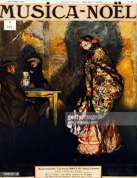 Lucienne Breval Swiss soprano as Carmen in the homonymous opera by Georges Bizet From a painting by Ignacio Zuloaga y Zabaleta Paris Bibliothèque Des...