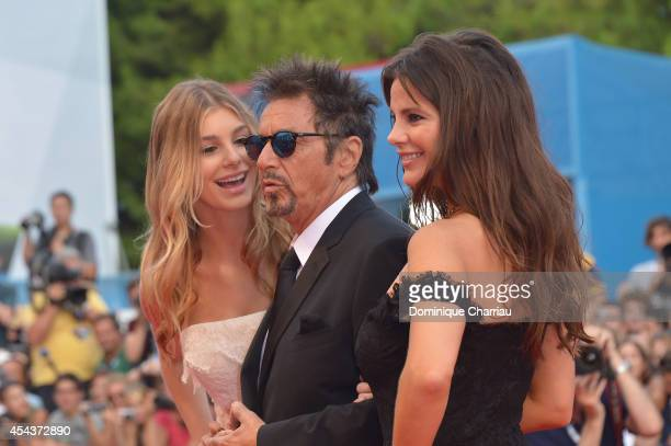 Lucila Sola Al Pacino and Camila Sola attend 'Manglehorn' Premiere during the 71st Venice Film Festival at Sala Grande on August 30 2014 in Venice...